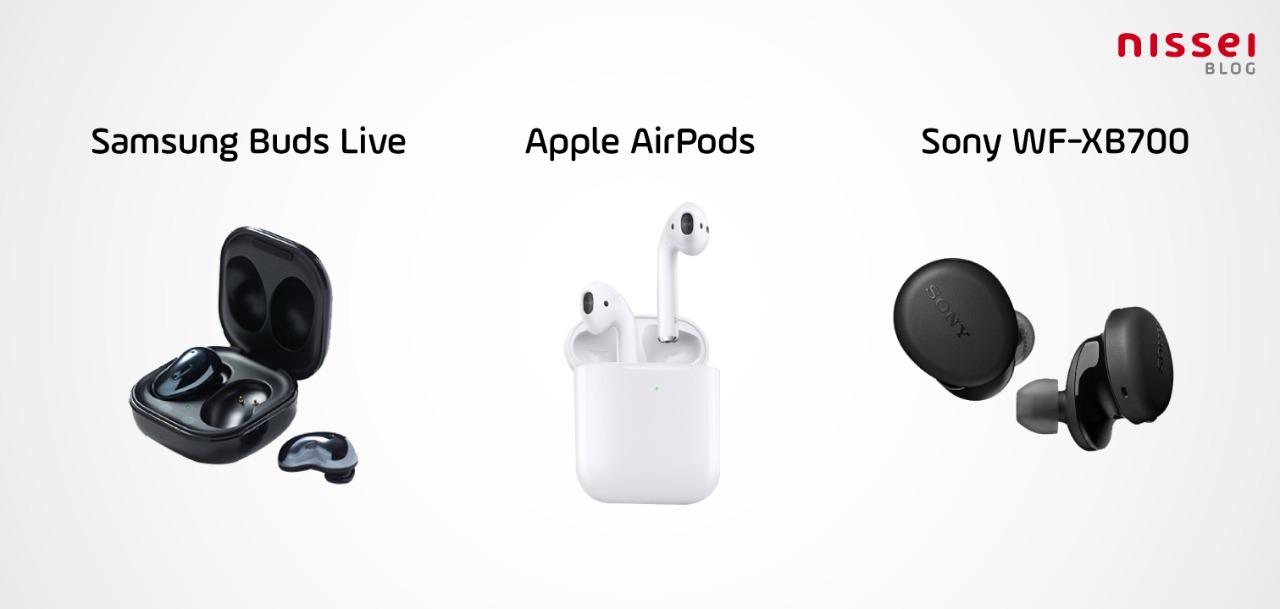 Recomendaciones de 3 auriculares para escuchar soundtrack de Cruella: Samsung Buds Live, Apple Airpods y Sony WF-XB700