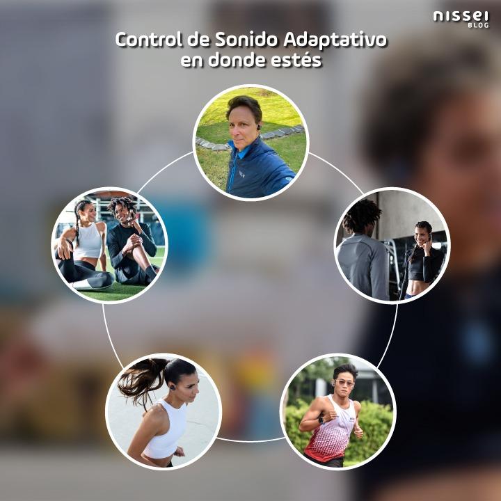 Sonido adaptativo del auricular de Sony WF-SP800N