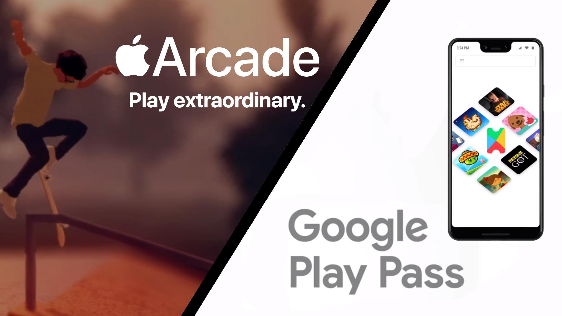 Google Play Pass ou Apple Arcade