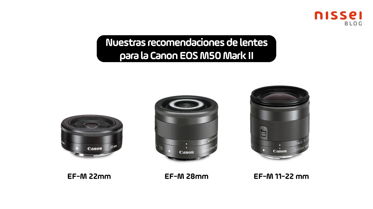 Lentes Canon Montura M, recomendadas para la Canon M50 Mark II