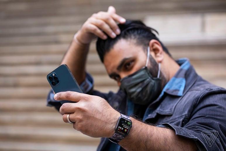Podremos desbloquear el iPhone con la mascarilla