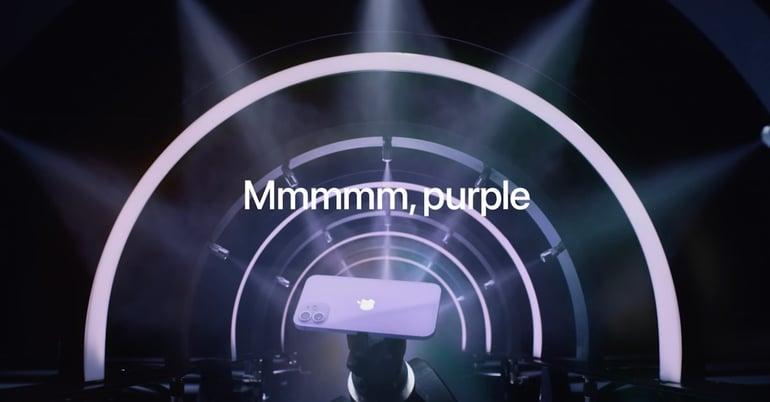 Nuevo color purpura para iPhone 12