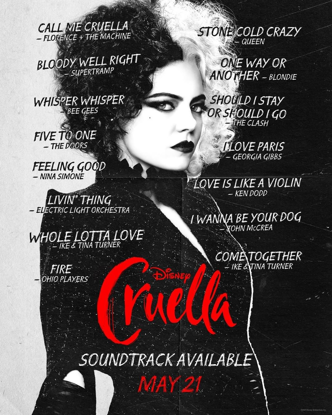 Banda sonora de la película Cruella