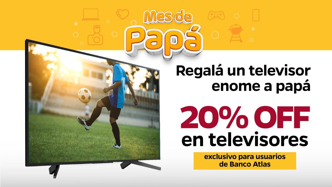 20 % Off en Televisores: Exclusivo para usuarios de Banco Atlas