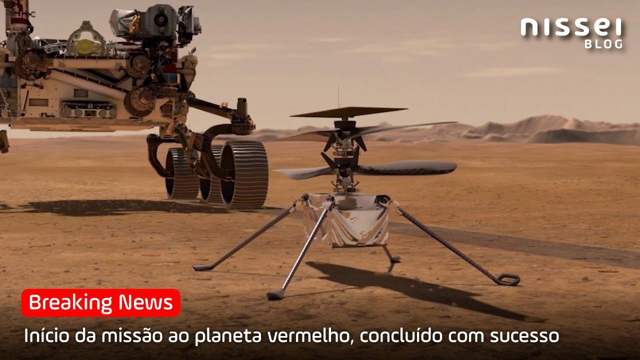 Pela primeira vez na história, a NASA voa um drone sobre «Marte»