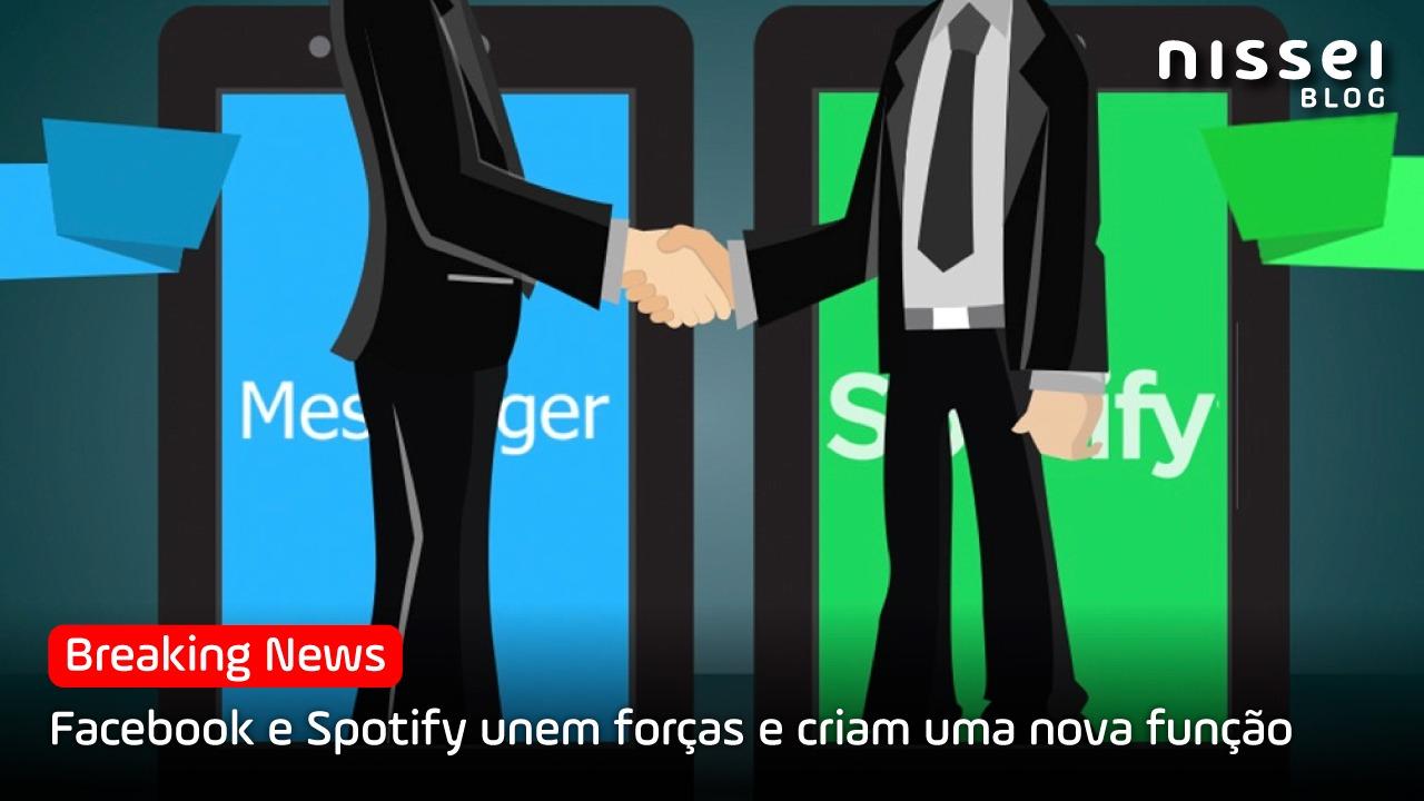 Facebook e Spotify criam um novo recurso disponível a partir de maio