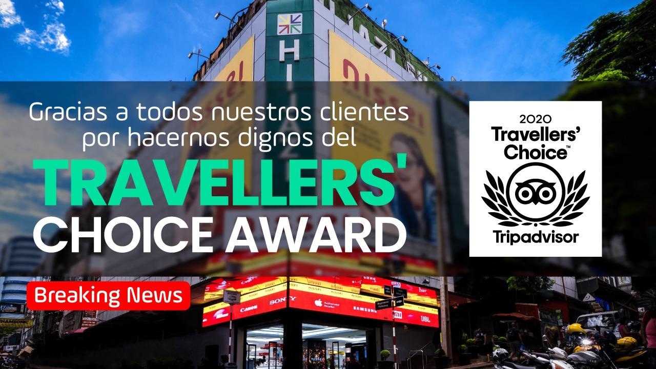 Tripadvisor certifica a Nissei por cuarto año consecutivo con el «Travellers'Choice»