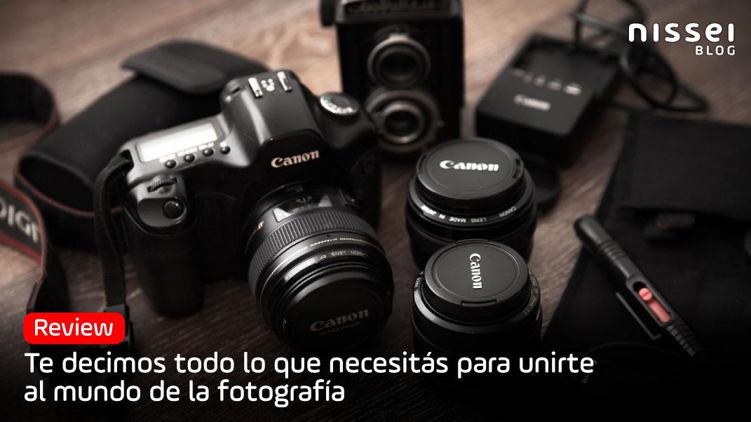 Cómo armar tu kit básico de fotografía