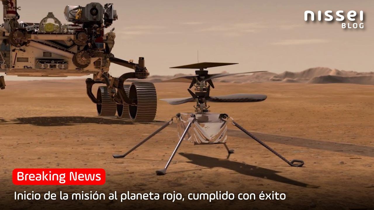 Por primera vez en la historia, la NASA vuela un drone sobre «Marte»
