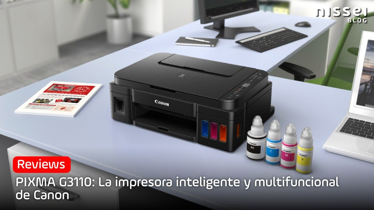 A impressora multifuncional inteligente da Canon: Pixma G3110